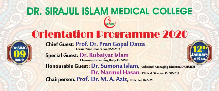 Orientation Dr.SIMC-9th Batch-2020
